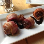 Bacon Wrapped Dates Stuffed with Goat Cheese, did not suck.