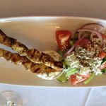 Upside down...Chicken Souvlaki (opted for no fries)