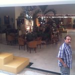 open-air lobby....(my husband at right)