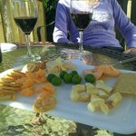 A little wine and cheese to watch the sun set