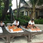 Massages at the hotel on beach