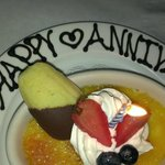Our anniversary desert.