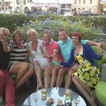 Drinks on the terrace and new friends