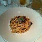 Spaghetti mit Schinken/Champignons/Oliven/Paprika/Kräutern (small)