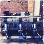 Our hand built Mirage coffee machine