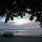 Coucher de soleil sur la plage d'Ipsos