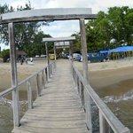 Jetty and the market on the other side