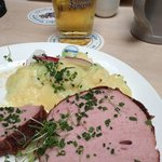 good traditional Baverian food, including the best Kartoffel Salat I had in Munich