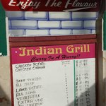Indian Grill menu - prices in Bd$