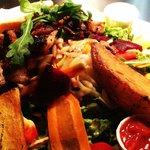 """Salat """"Betrunkene Pute"""" inkl zweierlei Dips (everything homemade)"""
