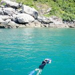 Snorkelling off Cham Island
