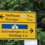dichtbij de zwitserse grens