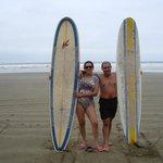 Despues de las clases de surf