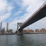 brooklyn bridge from the boat