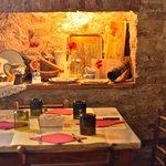 cozy interiors of Il Loggiato