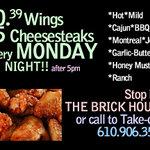 $.39 Wings every Monday Night!!