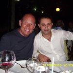 Volkan and I at restaurant