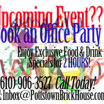 Host your next Office Party here at The Brick House