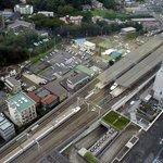 Shin-Yokohama Station from Shin-Yokohama Prince Hotel Room