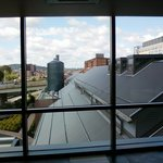 view from parking structure, roof of casino
