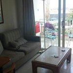 sofa and balcony