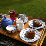Tea and cake in the beautiful gardens!