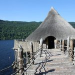 The reconstructed dwelling on the crannog