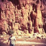 My husband at one of our stops (the gorges)