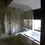 Shower and part of tub