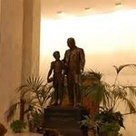 Statue of Mr. Hershey inside Founders Hall Rotunda