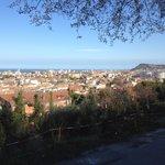 Panorama di Pesaro dal parcheggio del ristorante Il Falco
