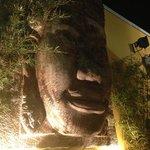 huge Buddha artwork outside