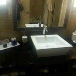 Unusual sink in the bathroom.