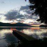 Sunrise from Cabin F dock