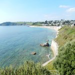 Falmouth beach on way to castle
