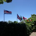 Flags in the maind entrace