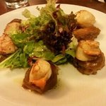 Seared scallop and pork ( to die for )