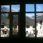 view of the mountains out the window