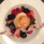 Lovely desserts. This is the flan and fruit (did not try it, just took the pic of the dessert ca