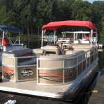 Pontoon boat available for rental