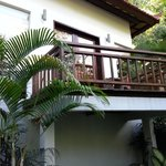 Balcony facing the forest. .lovely.
