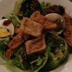 gado gado with fried tofu and peanut sauce on the side