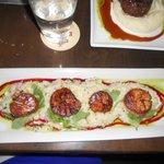 Scallops and Corn/Bacon Risotto