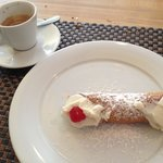 Cannolo and caffe