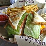 Great Club Sandwich and Fries