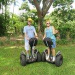 """Two """"kids"""" having a BLAST at World Botanical Gardens' Segway Tour!"""