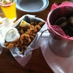 Clam strips and Steamers