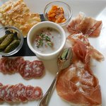 Charcutierie appetizer of three course meal