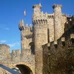 the templar castle stopped to visit on camino walk through spain