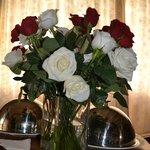 platter and bouquet